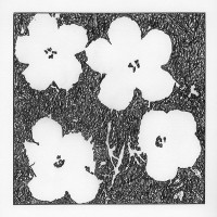 John Zinsser, After Andy Warhol: Flowers (Variation II), 2015