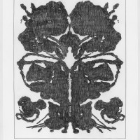 John Zinsser, Drawing Warhol: Rorschach Painting (Black Variation I), 2015