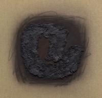 Erwin Bechtold, Bild 95-5 zum Thema Winkelbogen zentral, 1995