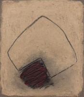 Erwin Bechtold, Sandbild mit Rot, 2004